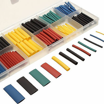 280pcs 8 Sizes Assorted 2:1 Heat Shrink Tubing Wrap Sleeve Tube Wire Cable Kit