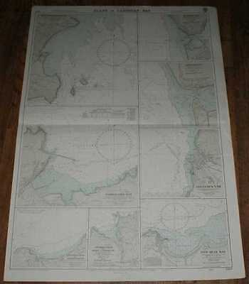 Nautical Chart No. 1484 Wales - West Coast, Plans in Cardigan Bay 1974