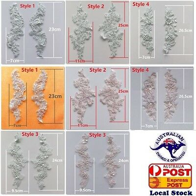 Beaded/Plain Lace(Motif) Flower for wedding dress craft invitation hair bend