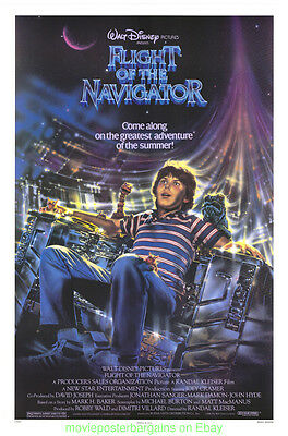 FLIGHT OF THE NAVIGATOR MOVIE POSTER Original 27x41 Rolled One Sheet 1986