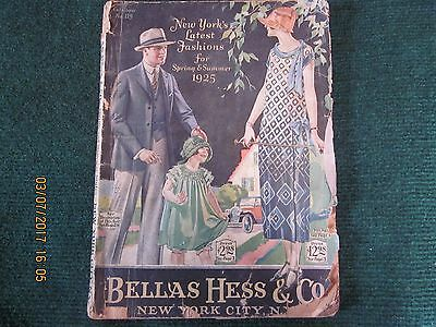 "Vintage Bellas Hess & Co. 1925 Spring and Summer Catalog 11"" Tall"