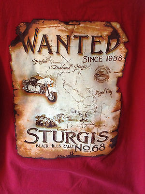 STURGIS BLACK HILLS RALLY Men's Size Large L T-Shirt, Rally #68