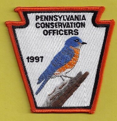 Pa Fish Game Commission Pennsylvania Conservation Officers 1997 Bluebird Patch