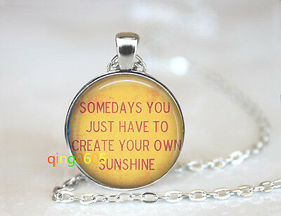 Create your own sunshine glass domeTibet silver Chain Pendant Necklace wholesale