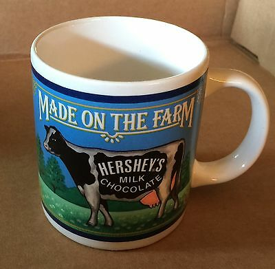 Made On The Farm Hershey's Milk Chocolate Vintage Retro Collectible Coffee Cup