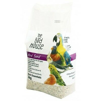 2 kilo BIRD PARROT SAND WITH CRUSHED SEASHELLS MINERAL CALCIUM FEED  BIRDS