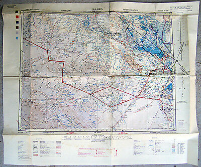 Iraq Map ~ Basra ~ Restricted ~ Confidential ~  Seventh Edition May 1944