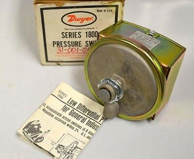 Dwyer 1823 Series 1800 Pressure Switch. New in box, box is not in the best shape
