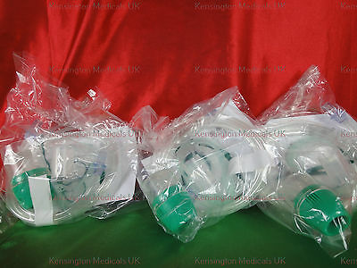 Ecolite Aerosol  Nebuliser Face Mask - For Infants 3 X Masks -Paediatric -