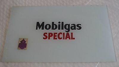 Vintage Mobilgas Special Gasoline Glass Service Station Gas Pump Inserts Sign