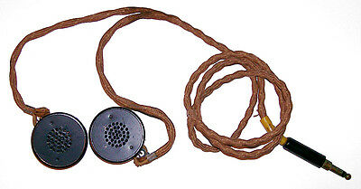 New Original WWII Army Air Corp Radio Receivers with Y Cord and Plug