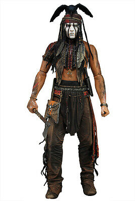 Neca The Lone Ranger Tonto Johnny Deep New In Blister Action Figure