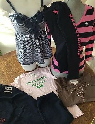 Lot Of 6 Girls Clothes Abercrombie Kids & Fitch Tops & Sweatpants Sz Xl