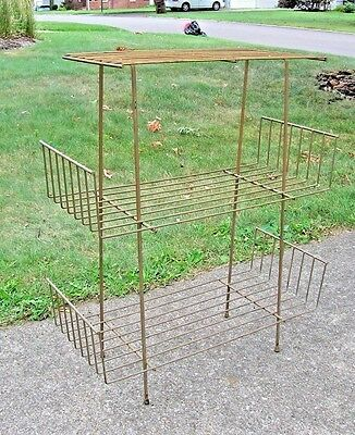 Mid Century Retro Atomic Iron Wire Table Rack Shelf Plant Stand 3 Tier