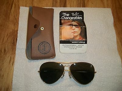 Vintage Ray-Ban Sunglasses The Changeables Outdoorsman Arista Brown