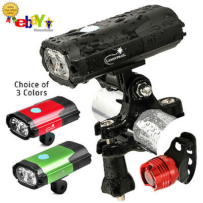 Lumintrail USB RECHARGEABLE 800 Lumen LED Bike Light with FREE Tail Light & More