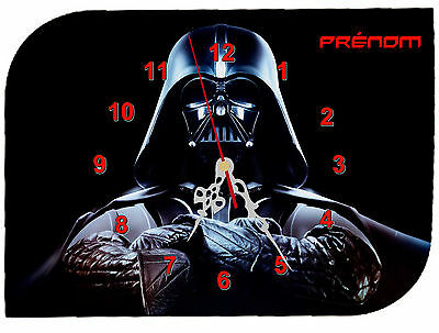 clock wall clock star wars first name text to choose ref f 09