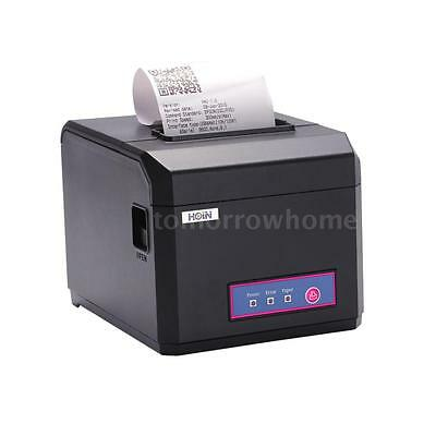 80mm&58mm POS Dot Receipt Paper Barcode Thermal Printer USB fr Store Bank T1Y4