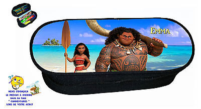 pencil case vaiana customizable with name ref 245