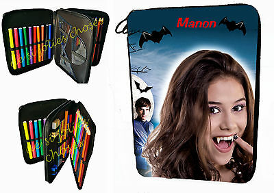 pencil case school filled chica vampiro customizable first name ref 09