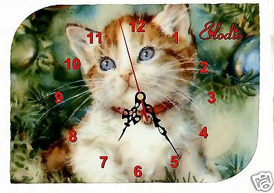 clock wall clock cat first name text to choose ref f 25