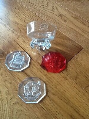 Life Savers Creme Savers Candy Dish + 3 Life Savers Ornaments