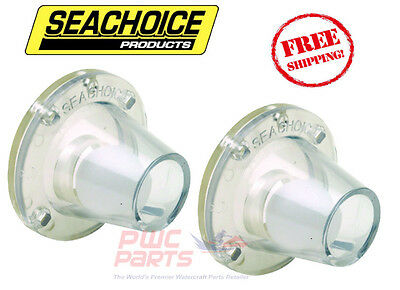 """2x SEACHOICE Small Clear Self-Bailing Scupper 18271 0.75""""-1.5"""" Openings Boat"""