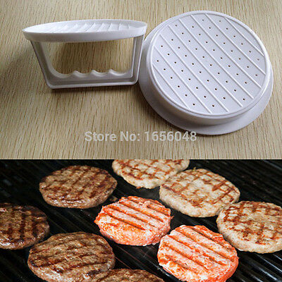 New Plastic Burger Press Hamburger Meat Beef Grill Cooking Maker Kitchen Mold