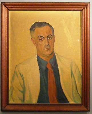 Andres By (1899-1979) handsome man male portrait oil painting 1946