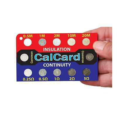 NICEIC CalCard Resistance Calibration Checkbox for Insulation/Continuity Testers