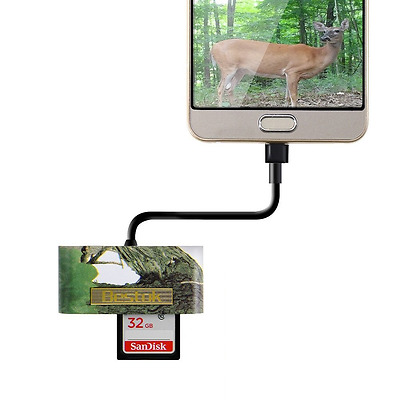 Bestok Trail and Game Camera Viewer Card Reader for Android Phones, Reads SD.