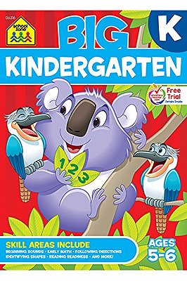 Big Kindergarten Workbook by School Zone Publishing Company, Perfect Paperback.