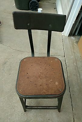 Vintage Industrial Metal Steel Chair Stool Decor