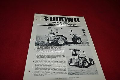 Roscoe Brown Bear Hydrostatic Tractor Dealers Brochure YABE12