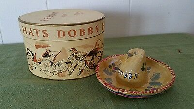 Vtg. Mini.-  Dobbs Sombrero  -Original Box -   Great Graphics On Box - Unusual !