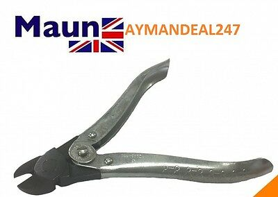 "Maun Snub Nose Diagonal CUTTER Nipper 160mm 6½"" Red Sleeves GENUINE ENGLAND"