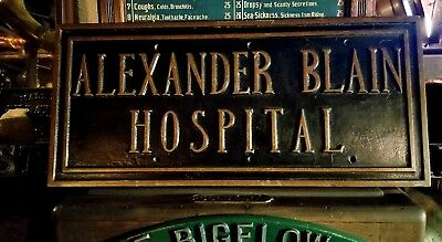 Architectural Salvage Art Deco 1920's Early Medical Alexander Blain Detroit Mi