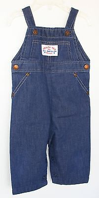 VINTAGE 1970s HEALTH TEX  the ALL-AMERICAN OVERALL Denim 9 mo
