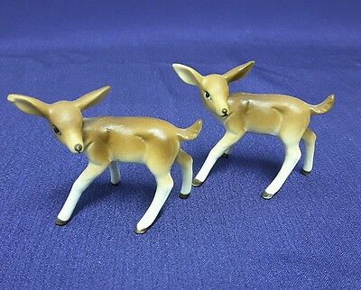 Vintage Pair of Miniature Bone China Deer Figurines