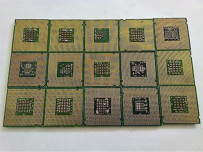Lot Of 15 Pinless Cpu Scrap Processors For Scrap Gold Recovery