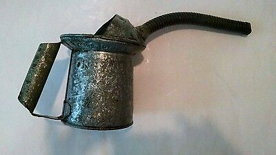 "vtg Metal GAS~OIL CAN NYC-PA Approved Type Q~10 61 MINN 1 QT 10"" flexible spout"
