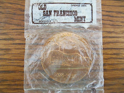 Old San Francisco Mint Commemorative Coin 1874-1937. Sealed.