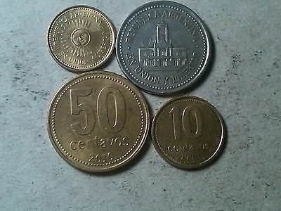 Argentina lot of coins 5 , 10 , 25 50 centavos