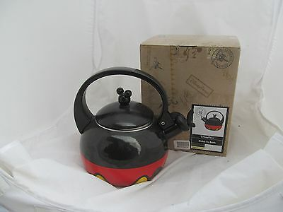"""USED"" DISNEY PARKS Best of Mickey Mouse Red PANTS Tea Kettle Pot Teapot Kitchen"