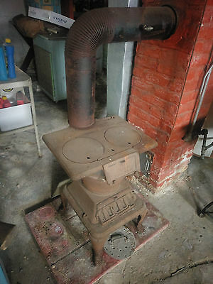 Vintage 'Cast Iron Wood Burning Cook Stove'..Unique & Original!