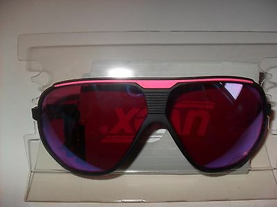 Vintage UVEX Sportstyle Sunglasses Black/Pink Neon Made In Italy. New