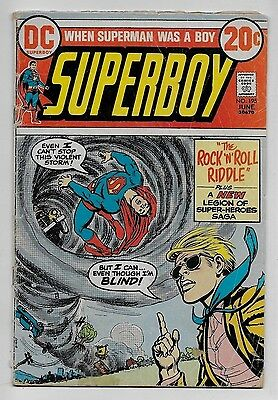 Superboy #195 GD 2.0 DC 1973 Nick Cardy cvr Don Blake Cockrum LSH Erg-1