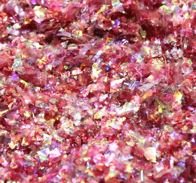 Red - Iridescent Ice Glitter Flakes - 311-4338