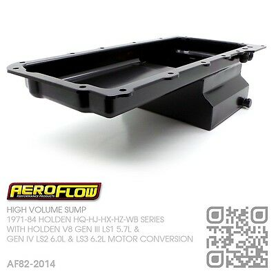 Aeroflow 5.5L High Volume Sump Gm V8 Gen Iii Ls1 5.7L [Holden Hq-Hj-Hx-Hz-Wb]