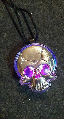 light up skull necklace Halloween safety trick or treat clearance bargain sale